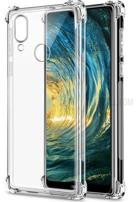 Case 4U Huawei P20 Lite Kılıf Darbeye Dayanıklı Sert Silikon Kılıf - Anti Shock - Şeffaf