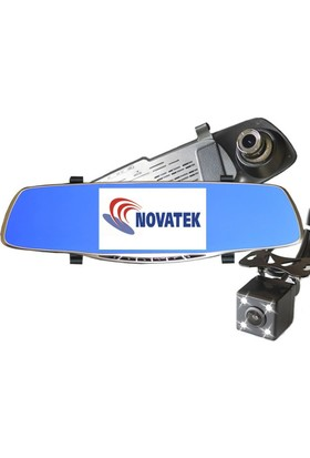 Novatek Yeni NT82 Plus 5 İnç IPS Ekran Çift Yön Geri Vites Park Çizgili Türkçe Menü Full HD 1080P Gece Görüşlü Metal Kasa Dikiz Aynalı Araç Kamerası