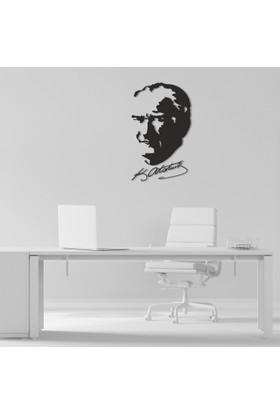Dekoragel Atatürk Portre İmzalı II Metal Duvar Dekoru