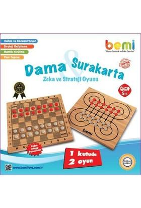 Bemi Toys Surakarta Dama Zeka Mantık Ve Strateji Oyunu 1 Kutuda 2 Oyun