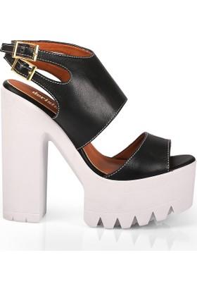 Deristudio Ft332 Kadın Platform Topuk Ayakkabı