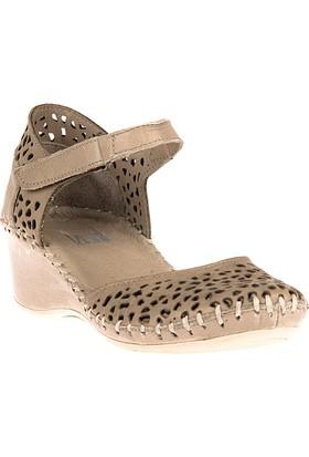 Ziya Kadın Hakiki Deri Ayakkabı 8176 6015 Kum