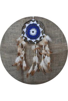 Miamantra Rattan Mavi Motifli Rüya Kapanı16 cm
