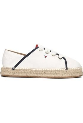 Tommy Hilfiger Fw02218-121 Metallic Lace Kadın Günlük Ayakkabı