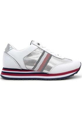 Tommy Hilfiger Fw02450-100 Corporate Flag Kadın Günlük Ayakkabı