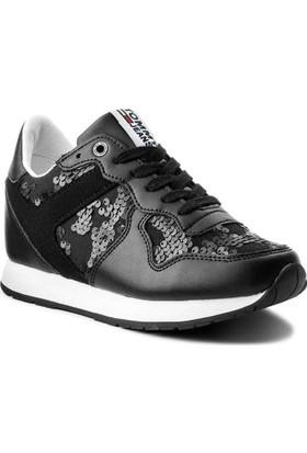 Tommy Hilfiger Fw03301-990 Tj Wedge Sequin Kadın Günlük Ayakkabı