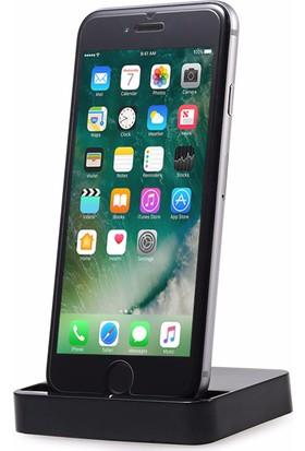 Microsonic iPhone 8 Dock Masaüstü Şarj Cihazı Standı Siyah