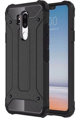 Microsonic LG G7 Kılıf Rugged Armor Siyah