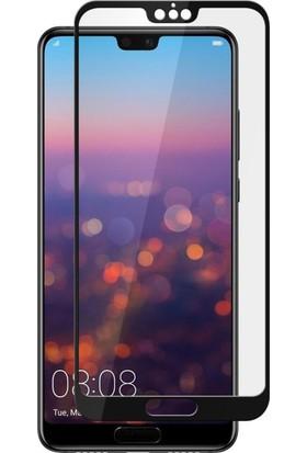 Microsonic Huawei P20 Tam Kaplayan Temperli Cam Ekran Koruyucu Kırılmaz Film
