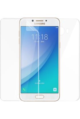 Microsonic Samsung Galaxy C5 Pro Ön + Arka Kavisler Dahil Tam Ekran Kaplayıcı Film