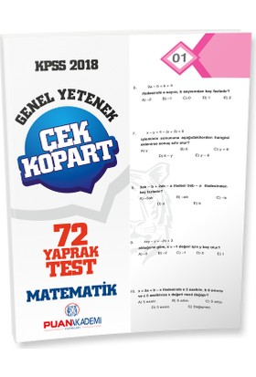 Puan Akademi 2018 KPSS Matematik Yaprak Test