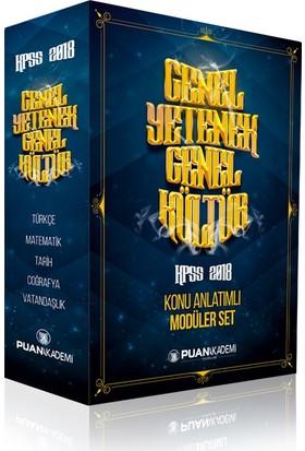 Puan Akademi 2018 KPSS Genel Yetenek Genel Kültür Konu Anlatımlı Modüler Set