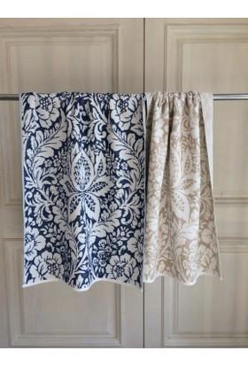 Dost Teksti̇l Koleksiyonu Banyo Havlusu Florence Desenli