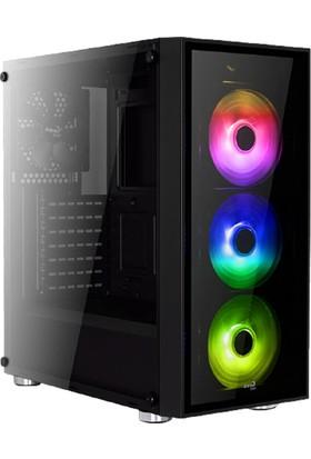 Aerocool Quartz RGB USB 3.0 RGB Led Fanlı Siyah ATX Oyuncu Kasası (AE-QRTZ-RGB)