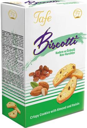 Tafe Biscotti Badem Ve Üzümlü Kıtır Kurabiye 120 gr