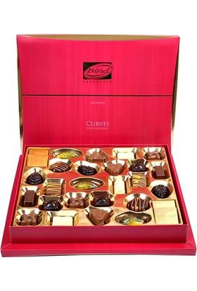 Bind Chocolate Pembe Kavisli Çikolata Kutu 320 gr