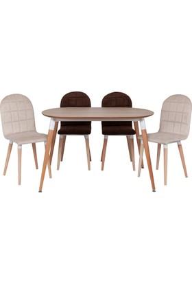 Ri̇ş Mobi̇lya Karizma Oval Masa Takımı, Mutfak Masası