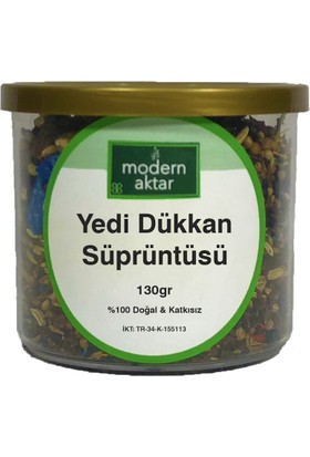 Modern Aktar Doğal Yedi Dükkan Süprüntüsü 130 gr