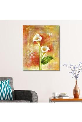 Çerçevelet Zambak Çiçegi 25 x 30 Cm Kanvas Tablo