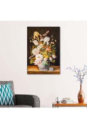 Çerçevelet Klasik Çiçek Tablosu 25 x 35 Cm Kanvas Tablo