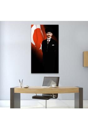 Çerçevelet Kalpaklı Atatürk Tablosu 50 x 80 cm