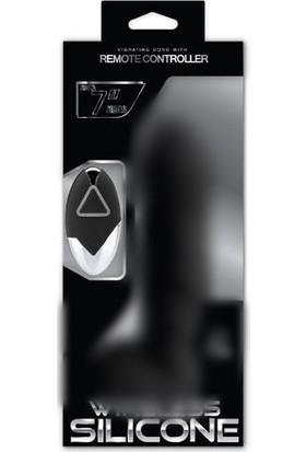 Censan Wireless Silicone Kablosuz Ultra Gerçekçi Vibratör - Zenci 18Cm
