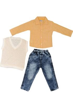 Ilgın Gömlek Süveter Pantolon 3 Parça Takım