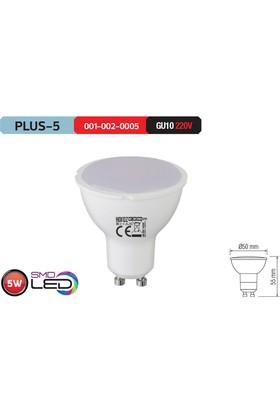 Horoz Plus5 Gu10 Duylu 6400K Beyaz Işık 5 Watt Led Ampül