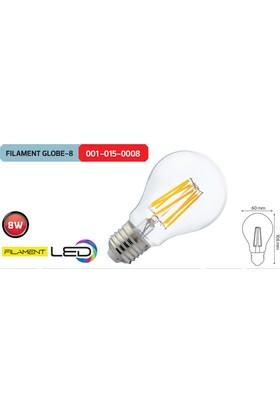 Horoz Filament Globe8 6400K Beyaz Işık 8 Watt Led Ampül