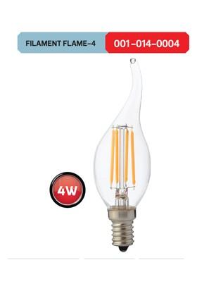 Horoz Flame 4W E14 Duy Filament Kıvrık Mum LED Ampül 6400K Beyaz Işık