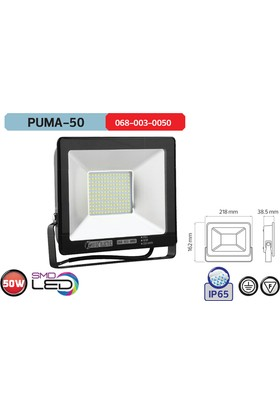 Horoz Puma 50 Yeşil Işık 50 W Smd Led Projektor