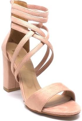 Shop And Shoes 173-1156 Kadın Ayakkabı Pudra Süet