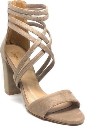 Shop And Shoes 173-1156 Kadın Ayakkabı Vizon Süet