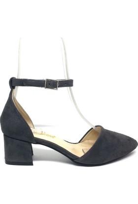 Shop And Shoes 155-701 Kadın Ayakkabı Gri Süet