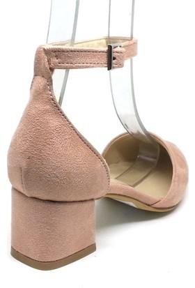 Shop And Shoes 155-701 Kadın Ayakkabı Pudra Süet