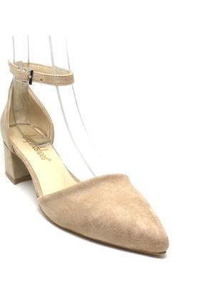 Shop And Shoes 155-701 Kadın Ayakkabı Ten Süet