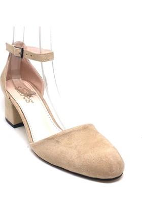 Shop And Shoes 173-314 Kadın Ayakkabı Bej Süet