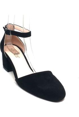 Shop And Shoes 173-314 Kadın Ayakkabı Siyah Süet