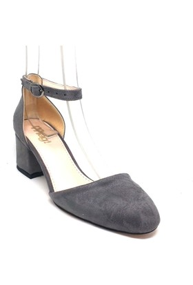 Shop And Shoes 173-314 Kadın Ayakkabı Gri Süet