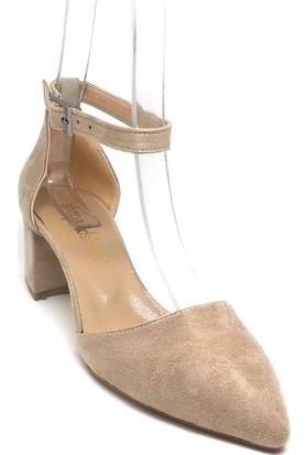 Shop And Shoes 172-130 Kadın Ayakkabı Bej Süet