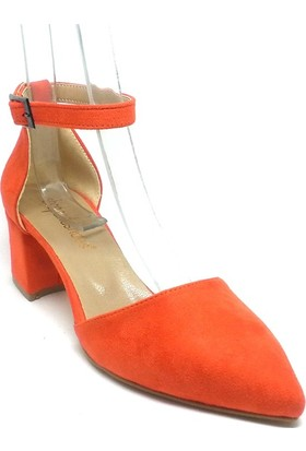 Shop And Shoes 172-130 Kadın Ayakkabı Turuncu Süet