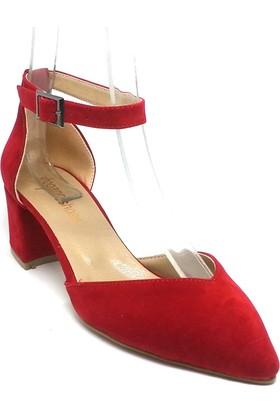 Shop And Shoes 172-160 Kadın Ayakkabı Kırmızı Süet