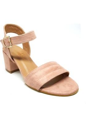 Shop And Shoes 171-484 Kadın Ayakkabı Pudra Süet