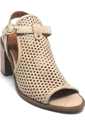 Shop And Shoes 001-669276 Kadın Ayakkabı Bej Süet
