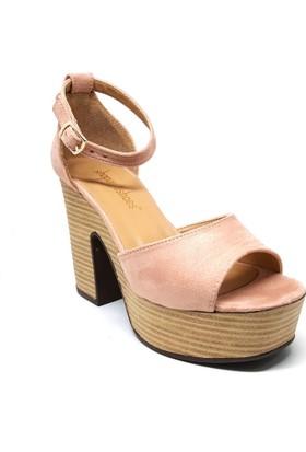 Shop And Shoes 171-800 Kadın Ayakkabı Pudra Süet