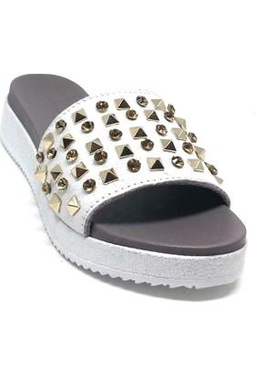 Shop And Shoes 212-8042-3 Kadın Terlik Gümüş