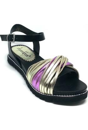 Shop And Shoes 118-F1 Kadın Sandalet Altın