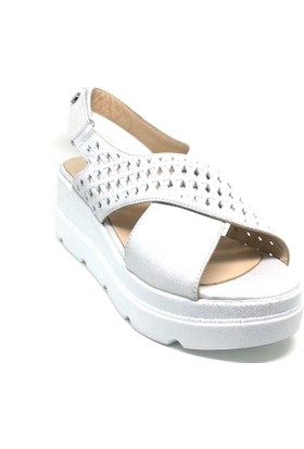 Shop And Shoes 039-510-1 Kadın Ayakkabı Gümüş