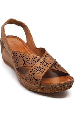 Shop And Shoes 001-080705 Kadın Sandalet Taba