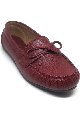 Shop And Shoes 173-50 Kadın Babet Bordo